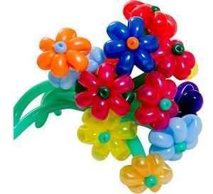 Как из шариков для сделать цветок