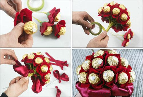 Как сделать букет из конфет своими руками пошагово с фото