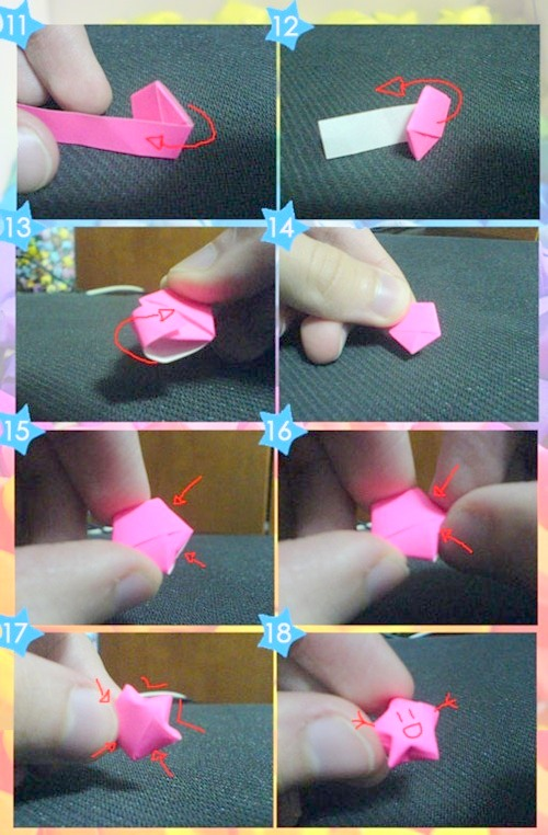 Звезды из бумаги объемные