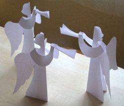 Как сделать ангела из бумаги?
