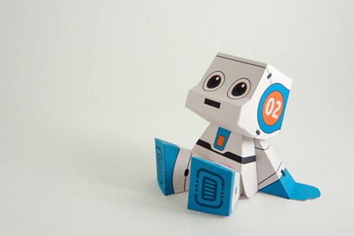 Как сделать робота из бумаги ?