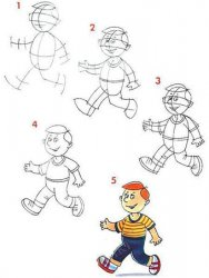 Как нарисовать человека карандашом?