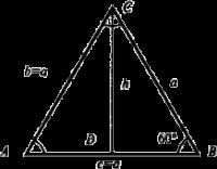 Как найти высоту треугольника?