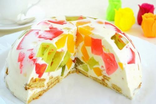 Торты фруктовые без желатина