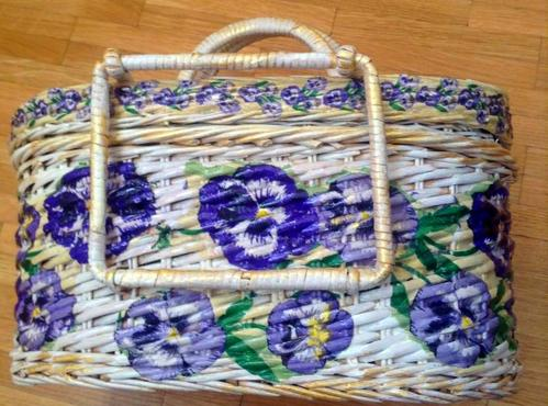 Плетение на рогатке корзинку