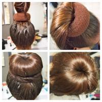 Как сделать шишку из волос с помощью бублика?
