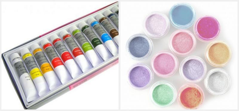 Как выглядят акриловые краски для ногтей 44
